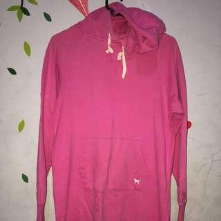 Big-sized Long Pink Sweater