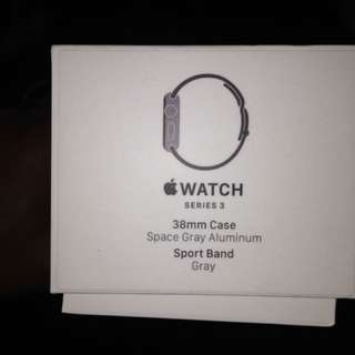 Apple Watch series 3 , 38mm case space gray aluminum