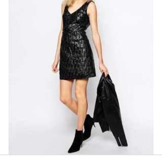 ASOS faux leather dress