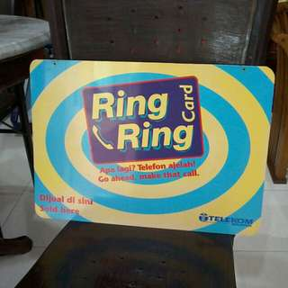 Sign lama ring2 kad double sided