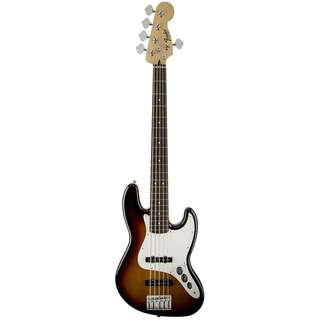 FENDER STANDARD JAZZ 5-STRING BASS GUITAR, PAU FERRO FB, BROWN SUNBURST