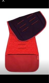 Seat liner with memory foam and storage