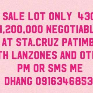 LOT FOR SALE 430SQM. at STA.CRUZ LAGUNA