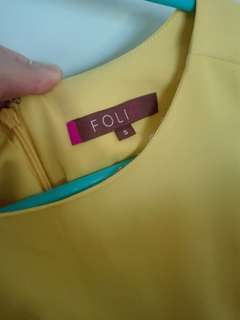 Yellow formal/office dress Sz Small