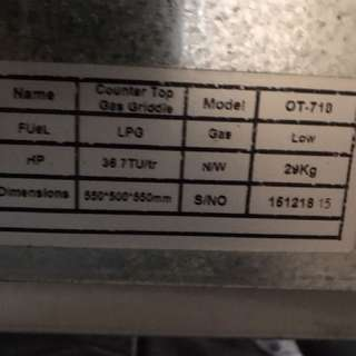 Heavy Duty Griddle