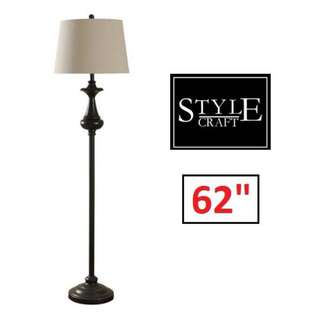 "Brand New STYLECRAFT 62"" Floor Lamp"