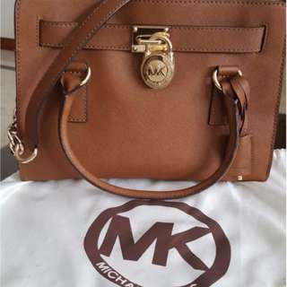 Michael Kors Large Hamilton Saffiano Leather Satchel
