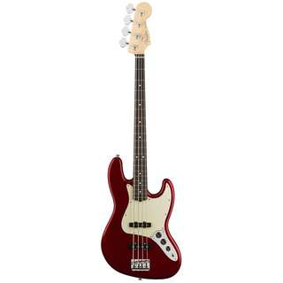 FENDER AMERICAN PROFESSIONAL JAZZ BASS GUITAR, ROSEWOOD FB, CANDY APPLE RED