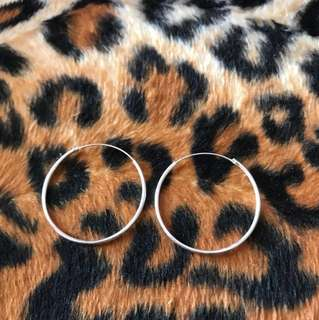 Bn 925 silver loop earring
