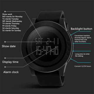 SKMEI Digital Electronics Waterproof LED Sports Watch