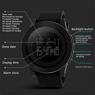SKMEI Digital Electronics Waterproof LED Sports Watch