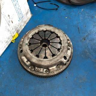 Stock clutch with lighten flywheel