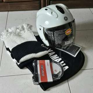 🚚 YAMAHA安全帽 +鎖+圍巾+ 防塵套