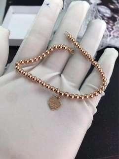 18K Gold Tiffany Bead Bracelet