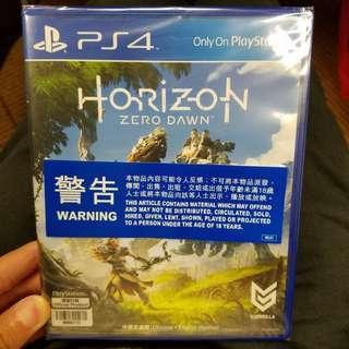 全新未開 100% New PS4 PlayStation4 Horizon Zero Dawn 地平綫 不議價