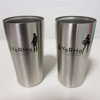 2B & 9S NieR Automata Stainless Steel Tumblers