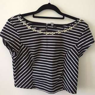 Forever New Crop Top Sz 8