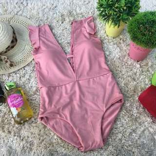 Low Front Sexy One Piece Swimsuit