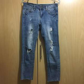 90% new moussy vintage jeans japan casual