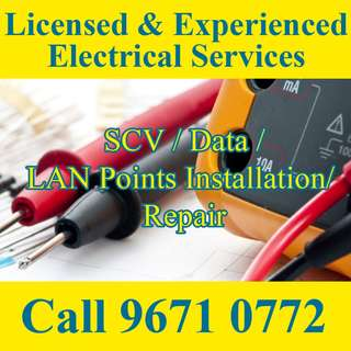 SCV /Data/ LAN Points Installation / Repair