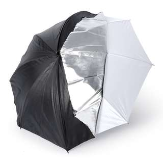 Pxel UMBWS84 33 Inch Black Silver Translucent 2in1 Reflector Umbrella