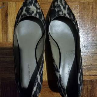 Leopard Flats with small heel Size 10
