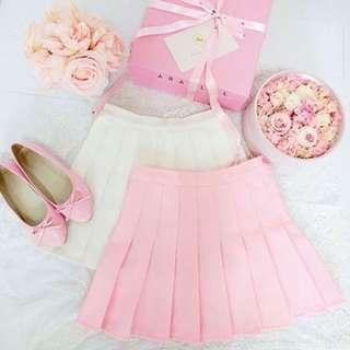 Tennis Skort Baby Pink Pastel Import Premium