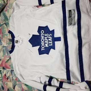 Leafs jersey size large (small black stain, paid $100)