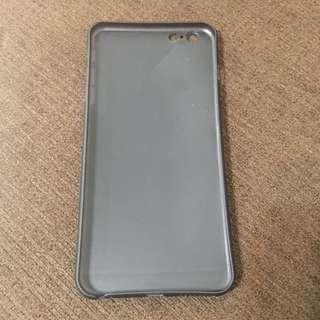 IPhone 6/6s Plus 手機殼 黑色磨砂半透明
