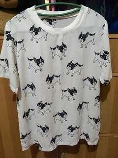 Korean dog print top