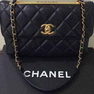 Chanel Lambskin Tote in Black with GHW