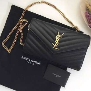 Ysl envelope chain bag