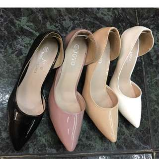 Patent Open Side Classic Shoes