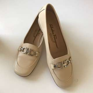 Salvatore Ferragamo Cream Shoes