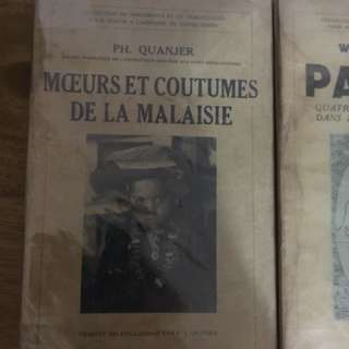 Antique French books