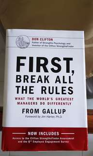Brand New Hardcover First Break All the Rules