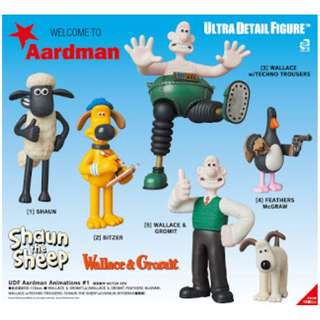 UDF Aardman Animations#1 5種 (UDF Aardman Animations #1)