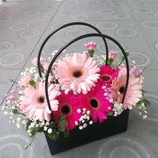 Get Well Flower Gerbera Table Arrangement