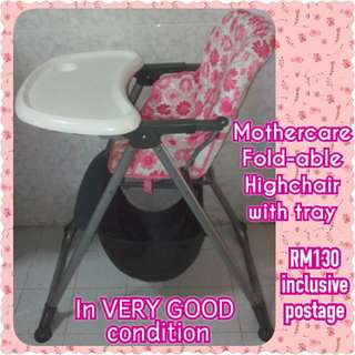 EXCELLENT COND Mothercare Baby Highchair