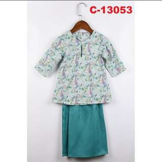 Girls Baju Kurung Set #13053