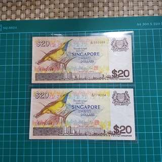 🐦Bird🐦🇸🇬 $20  2pcs  =$43   This banknote is used
