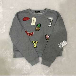 F21 PATCH SWEATER - SIZE S - FIXED PRICE!!