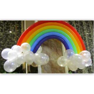 Rainbow latex balloon
