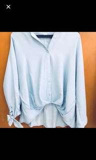 Oversize shirt light blue