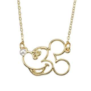 Japan Disneystore Disney Store Mickey Mouse Pearl Line Necklace