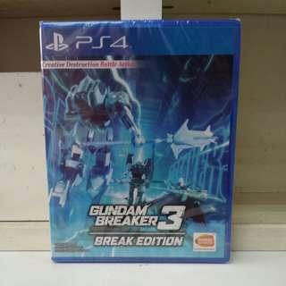 PS4 Gundam Breaker 3 Break Edition R3 English