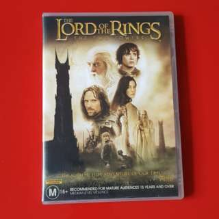 The Lord of the Rings - the two towers DVD