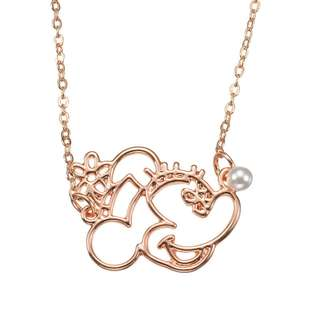 Japan Disneystore Disney Store Minnie Mouse Pearl Line Necklace