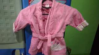 Carters pink bath robe