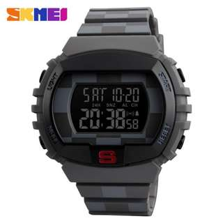SKMEI 1304 GRAY RUBBER STRAP WATCH FOR MEN - COD FREE SHIPPING
